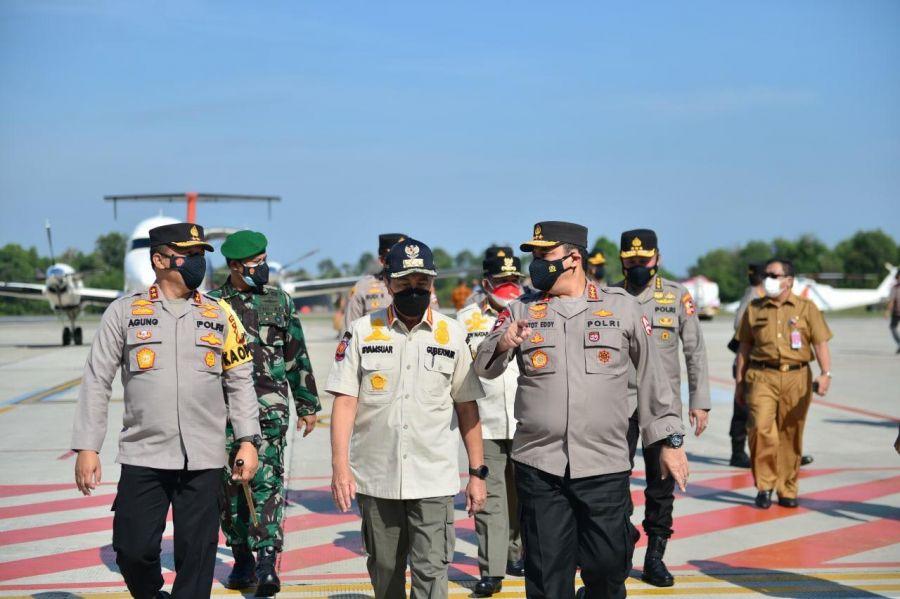 Atensi Penanganan Covid-19, Wakapolri Lakukan Kunjungan Kerja Ke Riau