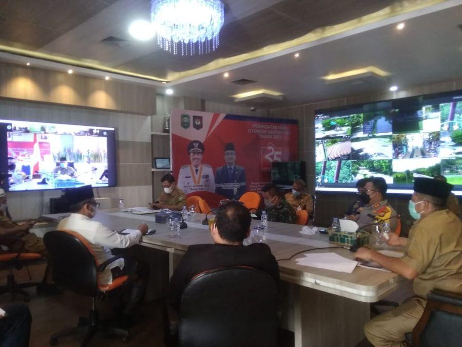Bupati Alfedri Pimpin Rapat Persiapan Vaksinasi Massal di Kabupaten Siak