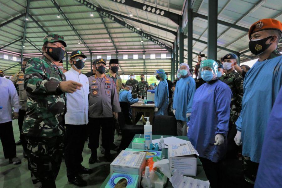 Kunjungan Panglima TNI Bersama Kapolri dan Menkes Kegiatan Vaksin LDII