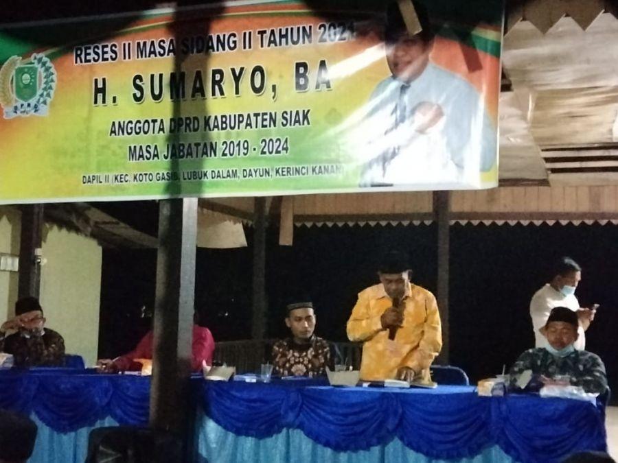 Legislator Siak H. Sumaryo Gali Aspirasi Masyarakat di Kampung Buana Bhakti
