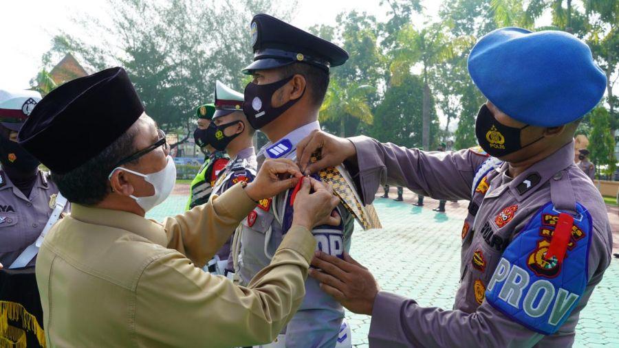 Polres Siak Laksanakan Apel Gelar Pasukan Operasi Ketupat Lancang Kuning 2021