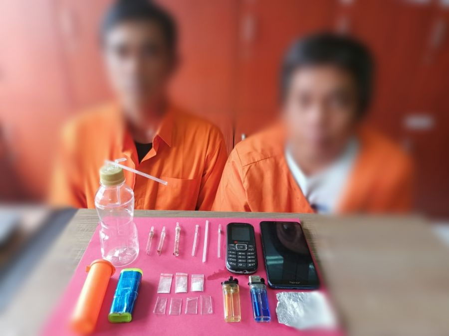 Polres Siak tangkap 2 pengedar Narkoba di kecamatan Tualang  Siak