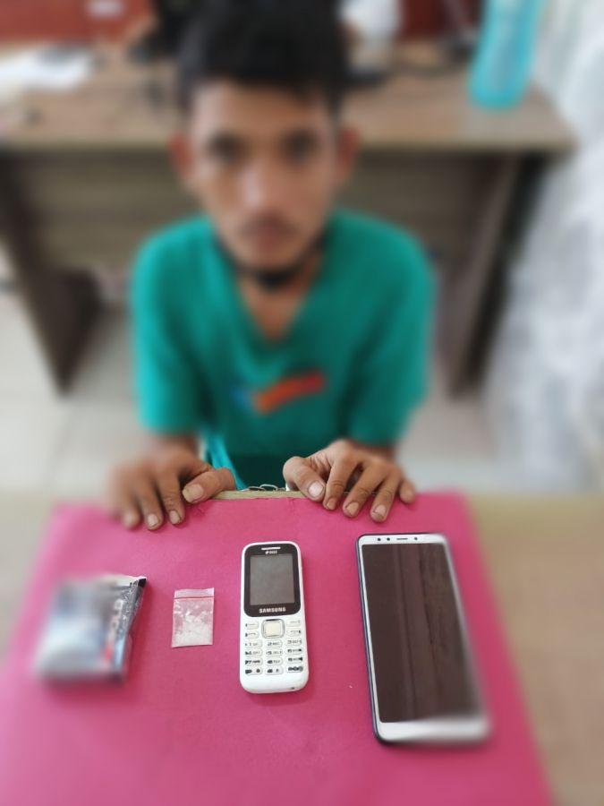 Satres Narkoba Polres Siak Tangkap Satu Orang Pelaku Penyalahgunaan Narkotika di Kandis
