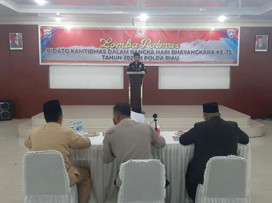 Senkom MP Ikut Serta Lomba Pidato Potmas Polda Riau