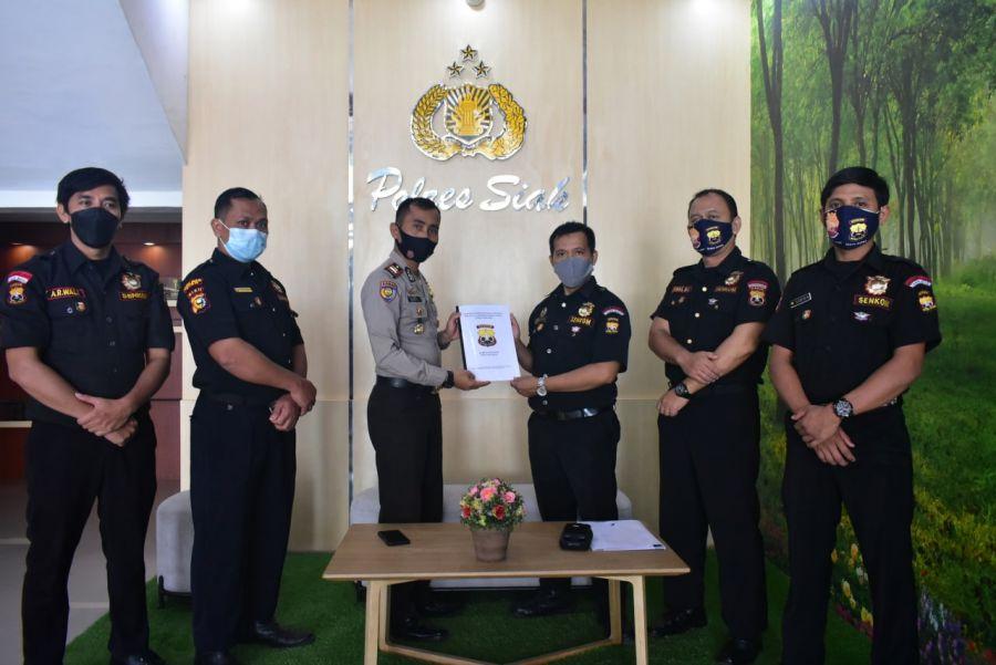 Terima Kunjungan Senkom Mitra Polri Siak, Kasat Binmas:  Perkuat Sinergitas  Polri dan Mitra