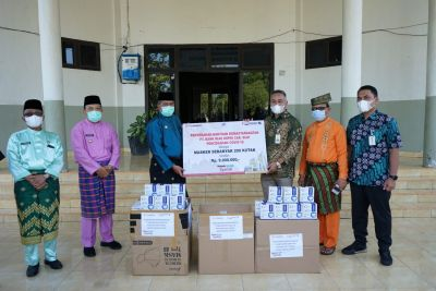 Bank RiauKepri Cabang Siak Salurkan Bantuan Masker
