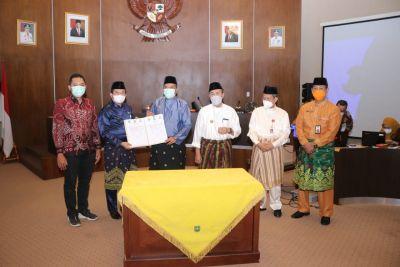 Bupati Siak Bersama Gubri Tanda Tangan Kesepakatan Batas Wilayah