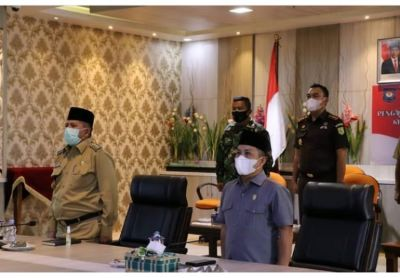 Bupati Siak Rapat Virtual Bersama Jokowi