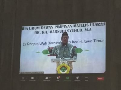 Dr. KH Marsudi Syuhud Waketum  MUI berikan Tausiyah kepada warga LDII