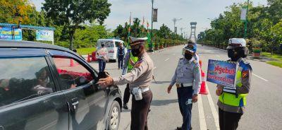 Polres Siak Dirikan Lima Pos Penyekatan Pemudik Dari Dalam Dan Luar Kabupaten Siak